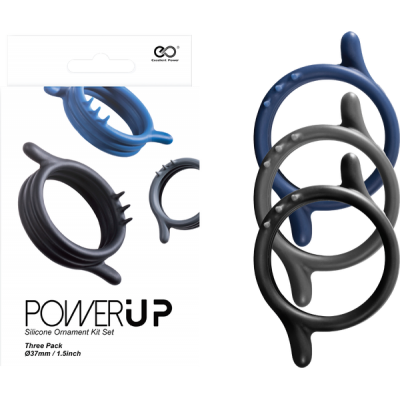 Excellent Power Power Up Cock Ring Set 3pk FKJ028A000-000 4897078624193