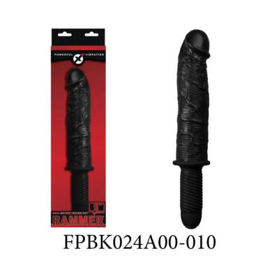 Excellent Power Rammer 9 inch Vibrating Penis Handle Dong Black FPBK024A00-010 489078627651