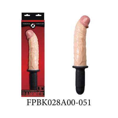 Excellent Power Rammer 9 inch Vibrating Penis Handle Dong Curved Flesh FPBK028A00-051 4897078627682
