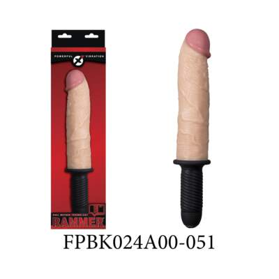 Excellent Power Rammer 9 inch Vibrating Penis Handle Dong Flesh FPBK024A00-051 489707627644
