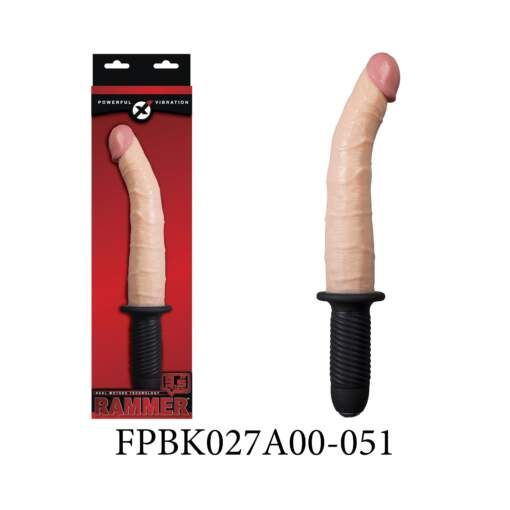 Excellent Power Rammer 9 point 5 inch Vibrating Penis Handle Dong Tapered Flesh FPBK027A00-051 4897079627668