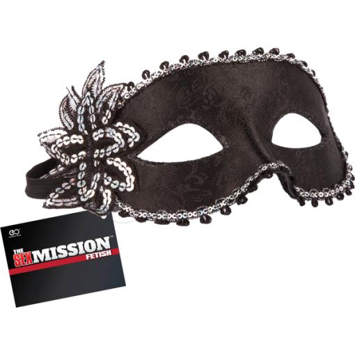 Excellent Power Sex Mission Fetish Sequin Detail Masquerade Mask Black FNI034A000 010 4897078623431 Detail