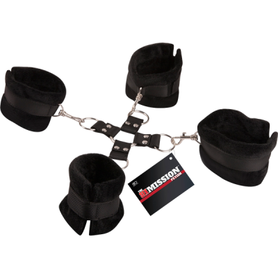 Excellent Power Sex Mission Hogtie Restraint Cuffs Set Black FNJ010A000-010 4897078623394