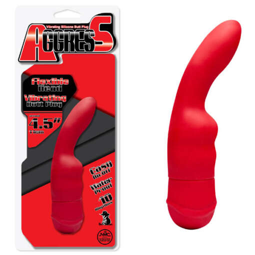 FPBH010A00-008 Aggress 4.5'' Flexible Anal Vibe - Red