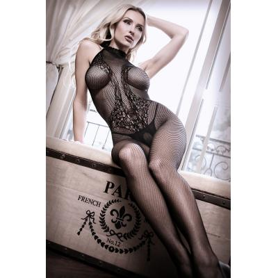 Fantasy Lingerie Sheer Fantasy Back To Black Lace Bodystocking Black SF903 811432028018