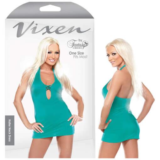 Fantasy Lingerie Vixen Criss Cross Mini Dress Turquoise OS One Size B B602OS 811432026328 Multiview