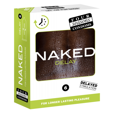 Four Season Naked Delay Condoms 6 Pack FOR137 9312426006599