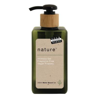 Four Season Nature Water Based Vegan Gel Lubricant Lifestyle Bottle 200ml Pump Top 9312426006810