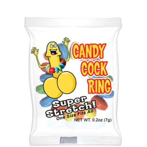 Hott Products Hard Candy Cock Ring Edible Cock Ring Rainbow HP 2990 818631029907 Pack Detail