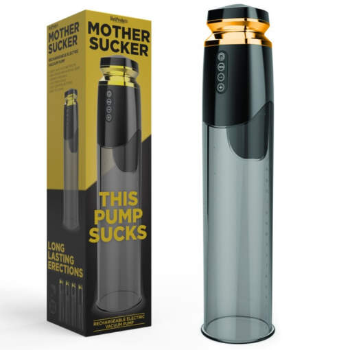 Hott Products Mother Sucker Rechargeable Automatic Penis Pump Smoke HP3291 1 818631032914 Multiview