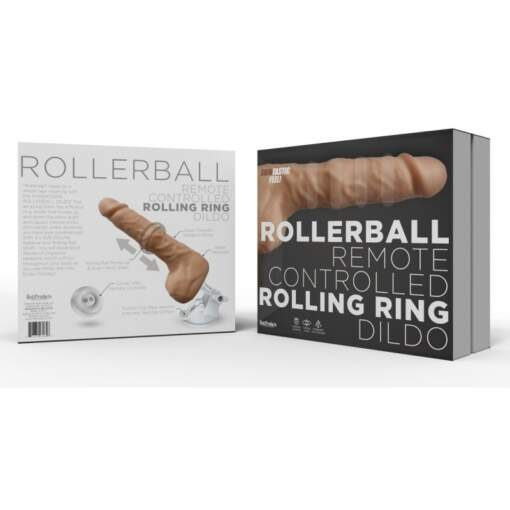 Hott Products Rollerball Rolling Ring Wireless Remote Dildo Vibrator with Stand Light Flesh HP3284 818631032846 Boxview