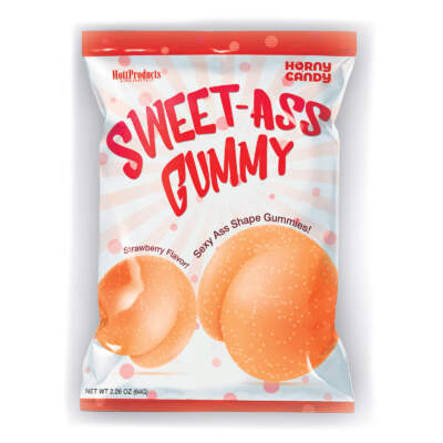 Hott Products Sweet Ass Gummy Candies 60G Pack Strawberry Flavour HP3239 818631032396