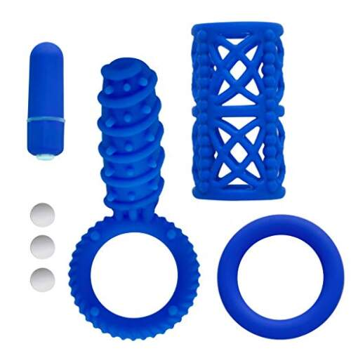 Icon Brands Simply Silicone Couples Kit Blue IC-1085-2 847841010856