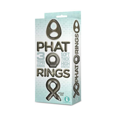 Icon Brands Phat Cock Ring 3 Pack Smoke IC IC2672 2 847841026727 Boxview