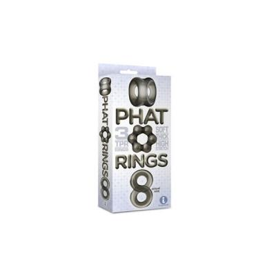Icon Brands Phat Cock Ring 3 Pack Smoke IC IC2673 2 847841026734 Boxview