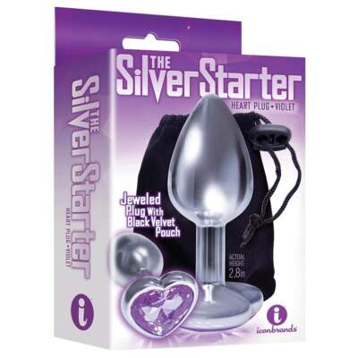 Icon Brands The Starter Heartshaped Jewel Butt Plug Violet IB2610 2 847841026116 Boxview
