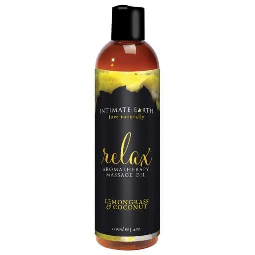 Relax Lemongrass and Coconut Vegan Massage Oil 120ml