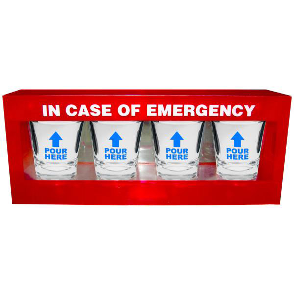 Kheper Games In Case Of Emergency Shot Glass Set 4 pc NV-30 825156107867