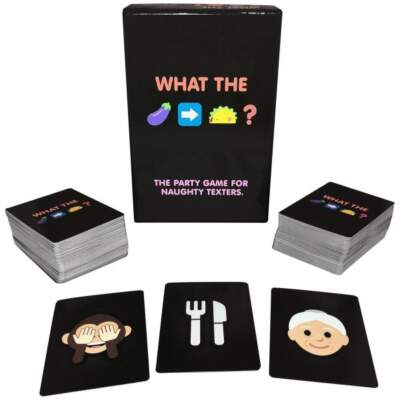 Kheper Games What The Eggplant Taco Emoji Card Game BG011 825156110263 Multiview