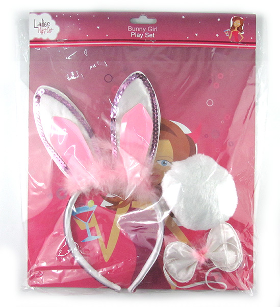 Ladies Night Out Bunny Girl Play Set Ears, Tail, Bow Tie
