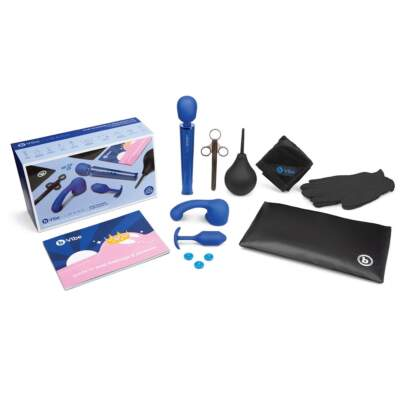 Le Wand and b Vibe Anal Massage and Education Set 10pc Blue BV 025 4890808229903 Contents Boxview