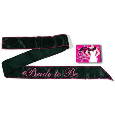 Little Genie Bride To Be Party Sash Black Pink LGNVC033 685634100786 Multiview