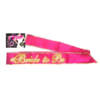 Little Genie Bride to Be Sash Glow In the Dark Pink LGNVC035 685634101080 Boxview