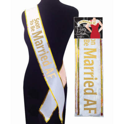 Little Genie Bride to Be Sash Soon to Be Married AF LGNVC060 685634102421 Boxview