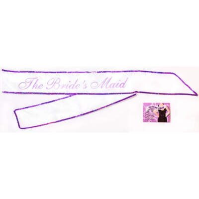 Little Genie The Bride's Maid Sash The Brides Maid White LGNVC030 685634001083 Boxview