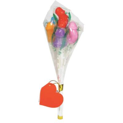 Little Genie Edible Pecker Bouquet Penis Shaped Lollipops 817717066911 Detail