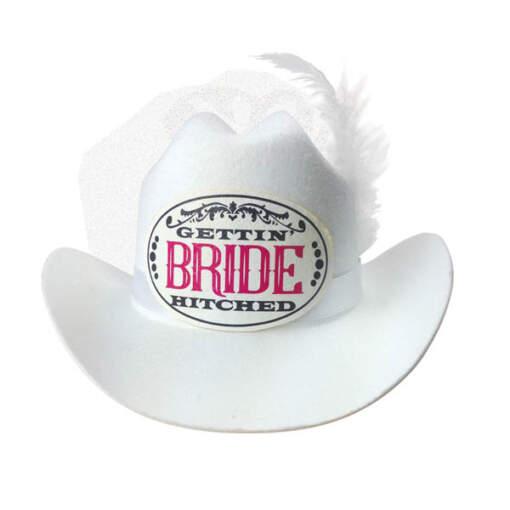 Little Genie Gettin Hitched Novelty Cowboy Hat White LGNVC056 685634101622 Detail