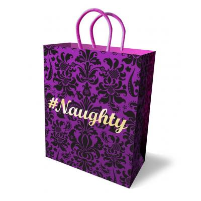 Little Genie Hastag Naughty Gift Bag Purple LGP 009 685634102551 Detail