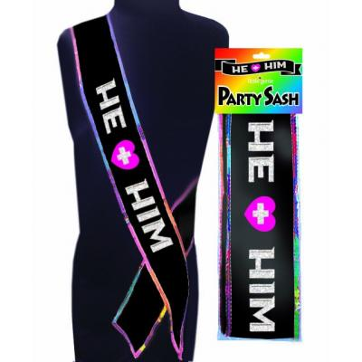 Little Genie He Him Gay Pride Bride Sash NVC104 685634102209 Multiview
