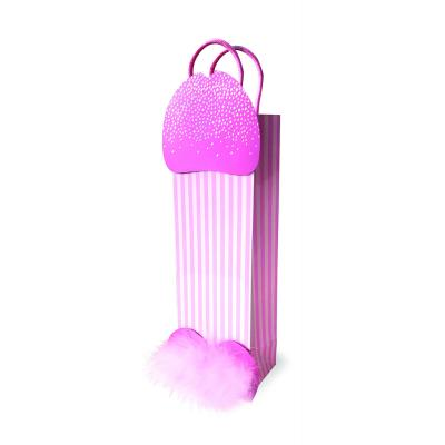 Little Genie Sparkling Penis Tall Gift Bag Pink 685634101950 Detail