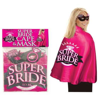 Little Genie Super Bride Cape and Mask Set Pink LGNVC-059 685634102001