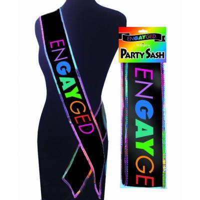Little Genie enGAYged Gay Pride Sash NVC103 685634102223 Multiview
