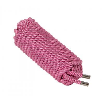 Love In Leather 10 metre silky silk satin luxury luxe bondage rope shibari fetish Pink ROP002PNK 1815160021616 Detail