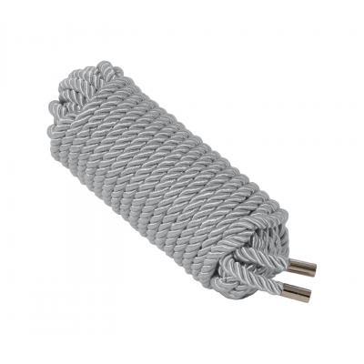 Love In Leather 10 metre silky silk satin luxury luxe bondage rope shibari fetish silver ROP002SIL 1815160021999 Detail