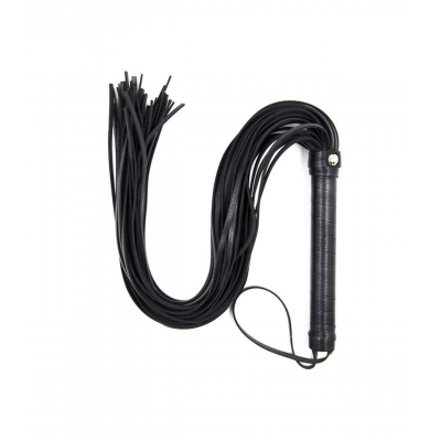 Love in Leather Long Leather Look Vegan Leather Flogger Black B WHI06 2238906000000 Detail
