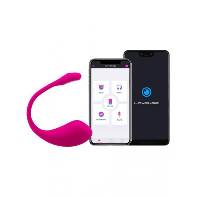 Lovense Lush 2 Smartphone App Egg Vibrator Pink 0728360599544 Detail