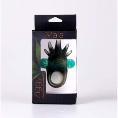 Maia Toys Ziggy Weed Leaf Rechargeable Vibrating Cock Ring Green Smoke MA1723 LF 5060311473011 Boxview