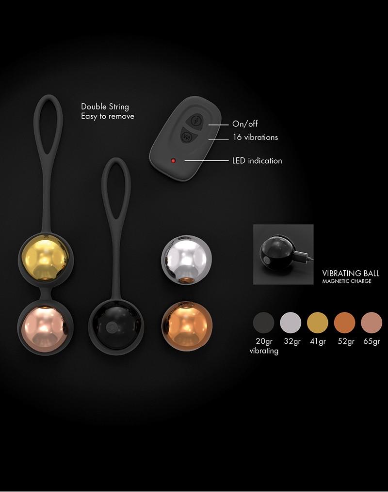 Marc Dorcel Training Balls Wireless Remote Kegel Balls Black 6072080 3700436072080 WeightsDetail