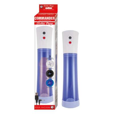 NASS Toys Commander Rechargeable Automatic Penis Pump Blue 2827 2 782631282726 Multiview