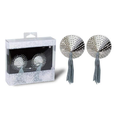 NMC Diamond Night Provocative Nipple Tassel Pasties Silver 2N4513 4892503105186 Multiview