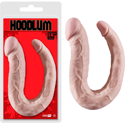 NMC Hoodlum 16 inch Double Ender Dong Light Flesh F06J076A00-001 4897078622984