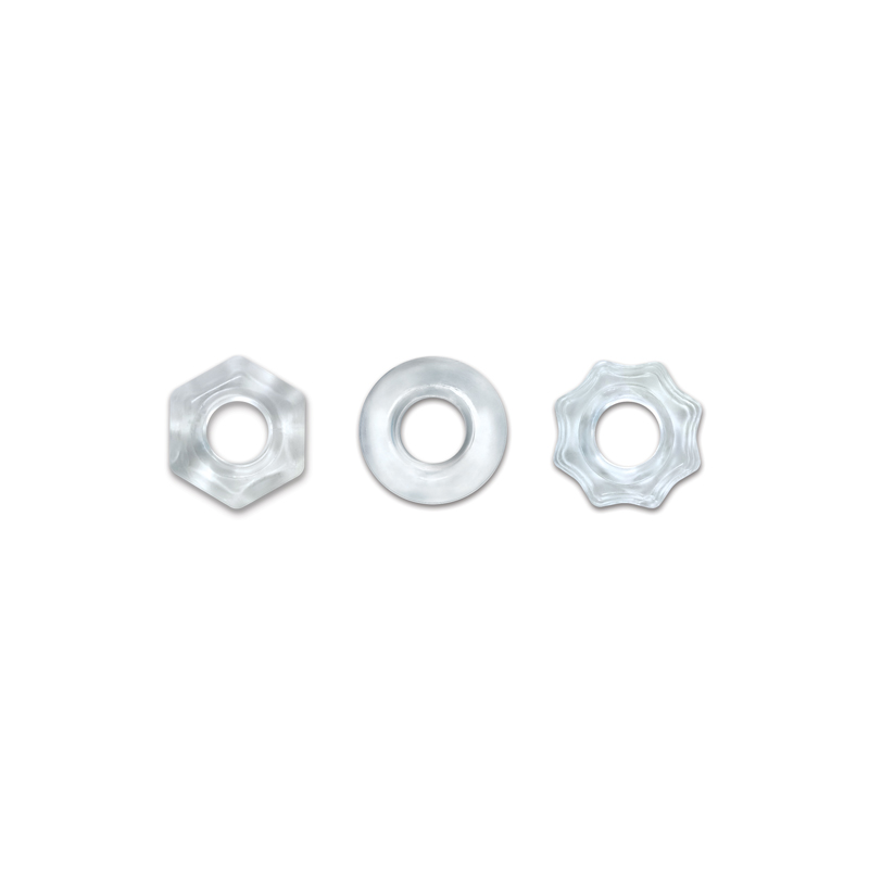 NS Novelties Renegade Chubbies Cock Ring 3-Pack Clear NSN-1111-11 657447100369