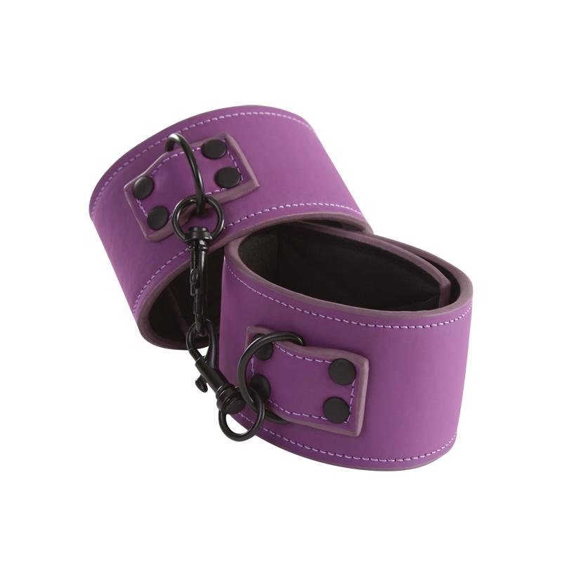 NSN-1254-15 - Lust Bondage - Anklecuff (Purple) - 657447097577