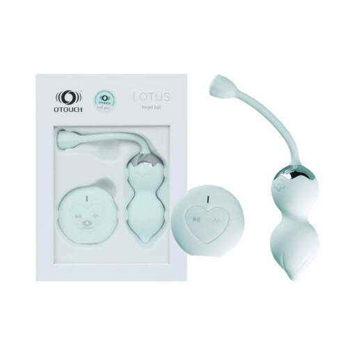 OTouch Lotus Wireless Remote Vibrating Kegel Balls Green OTLOTUSGRN 6972931360093 Multiview