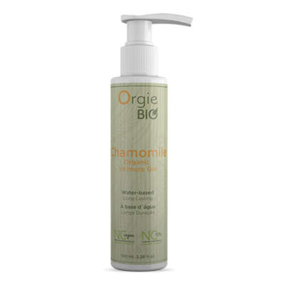 Orgie Bio Chamomile Organic Intimate Gel Lubricant 100ml 5600298351522 Boxview