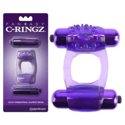 Fantasy C-Ringz  Duo-Vibrating Super Ring - PD 5863-12 - 603912747775
